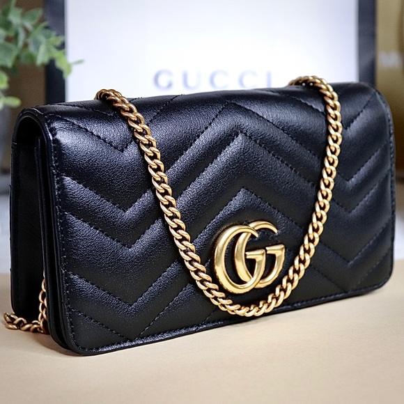 Gucci Handbags - Gucci GG Marmont Mini Quilted Leather Shoulder Bag